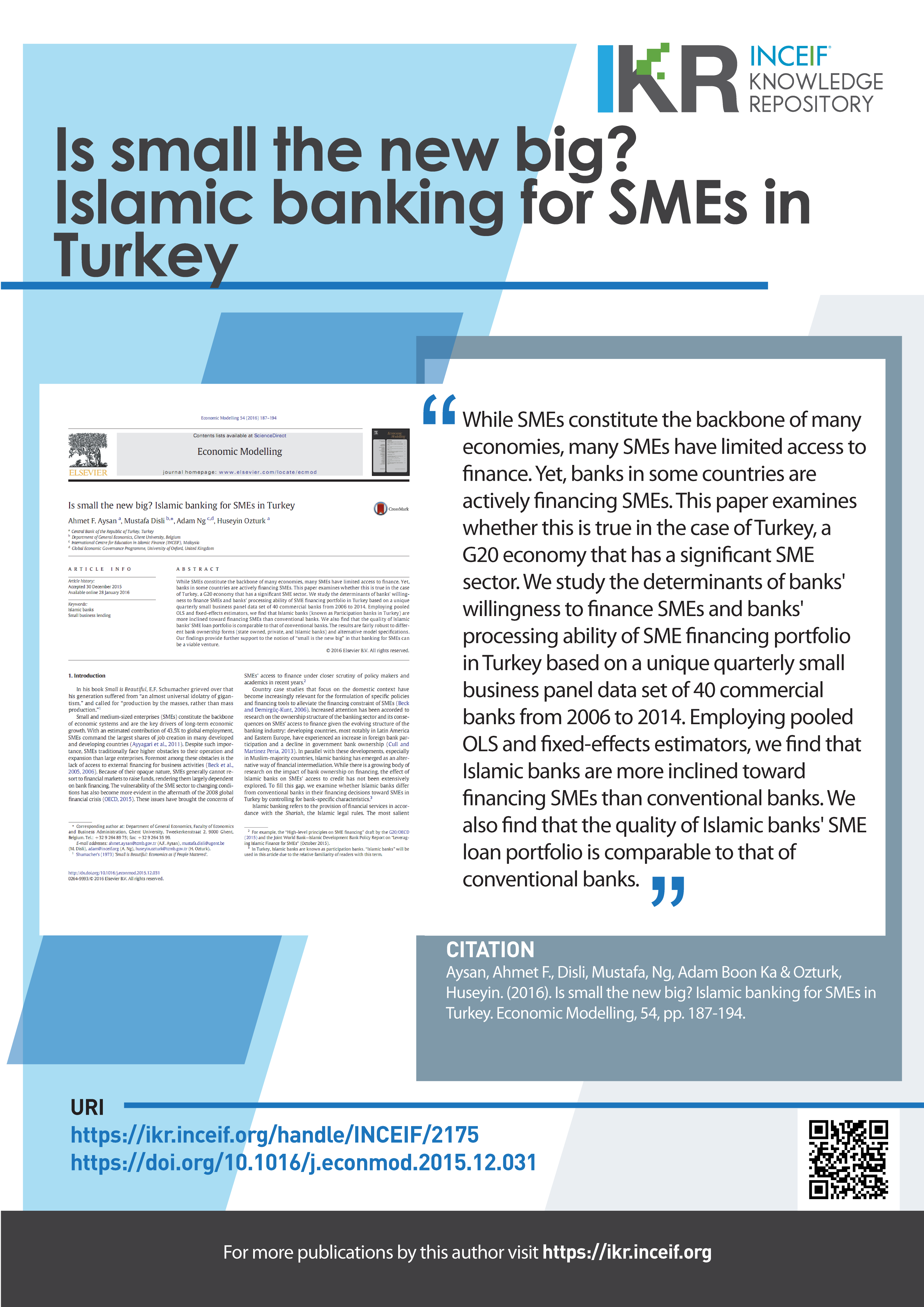 Is small the new big? Islamic banking for SMEs in Turkey
