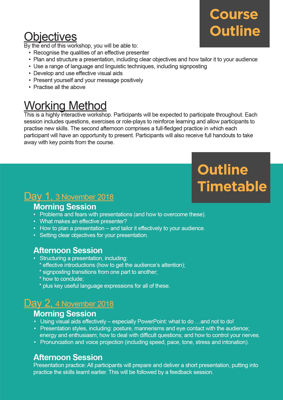inceif professional business presentation skills workshop